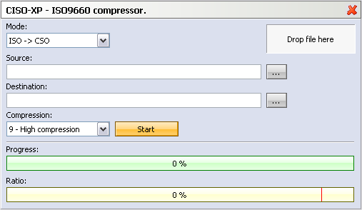 ISO2CSO file converter  ISO to CSO, CSO to ISO converter
